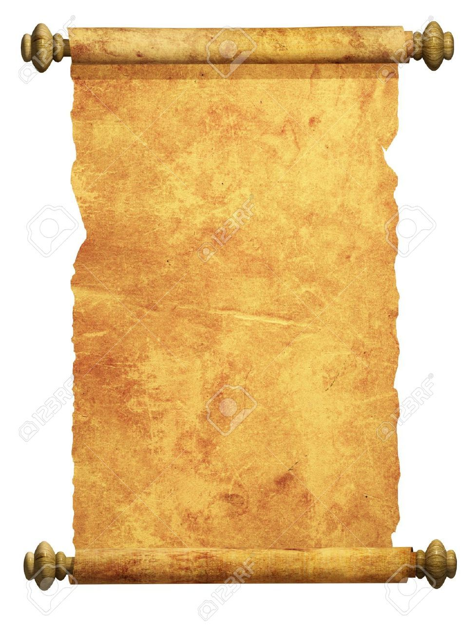 6782038-Scroll-of-old-parchment-Object-over-white-Stock-Photo ...