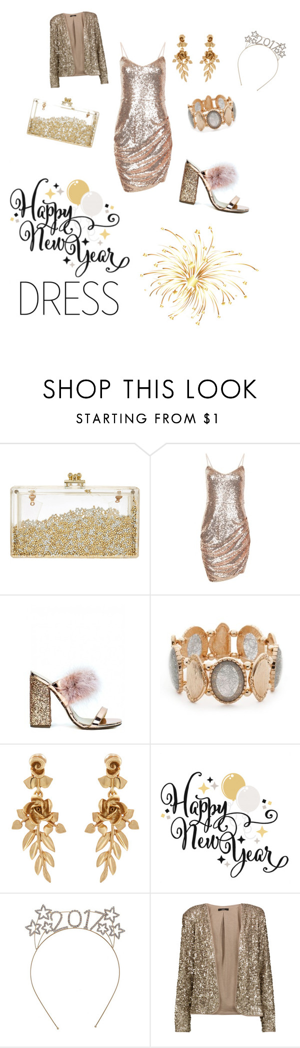 """New years party dress"" by neonaila ❤ liked on Polyvore featuring Ruby Rd., Oscar de la Renta and Tart"