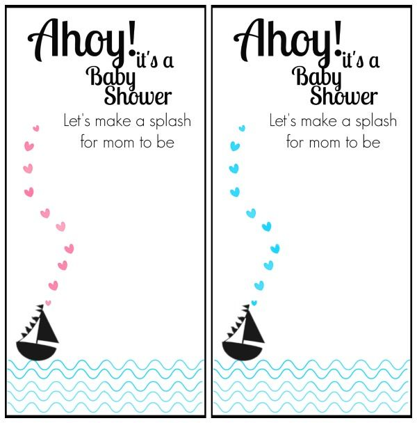 image relating to Nautical Baby Shower Invitations Printable referred to as No cost Printable Nautical Themed Youngster Shower Invitation Youngster