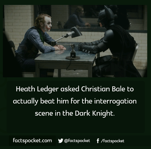FACTS POCKET | Heath Ledger asked Christian Bale to actually beat...