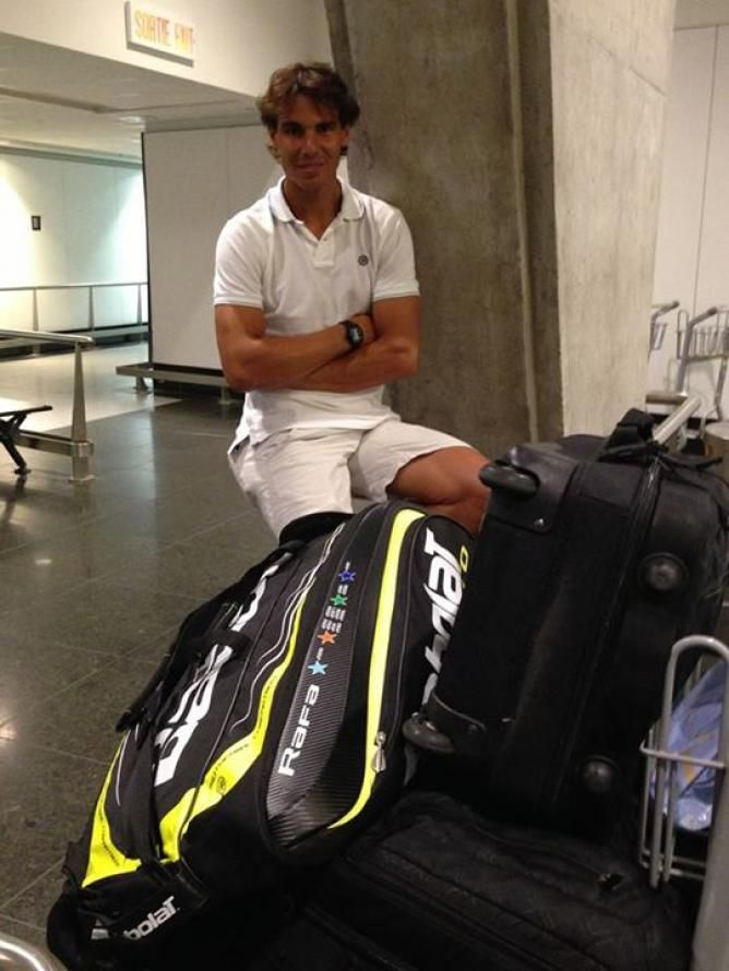Rafael Nadal Pictured With His Luggage At The Montreal Airport Rafael Nadal Tennis Champion Rafa Nadal