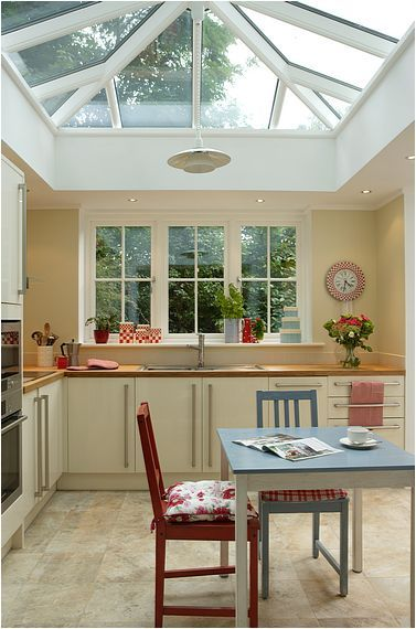 Kitchen Conservatory - I like the window at the end and the lantern ...