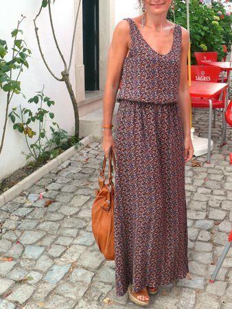 Patron couture robe longue droite