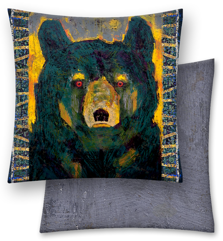 Black Bear Throw Pillow | Throw pillows, Bears and Pillows