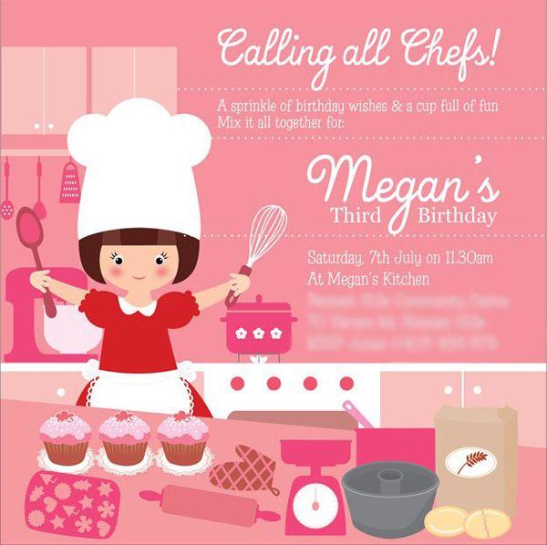 5f4fe7b71f895eb047ea2d11b9259413 baking birthday party invitations, preppy baking, kitchen,Cake Decorating Birthday Party Invitations