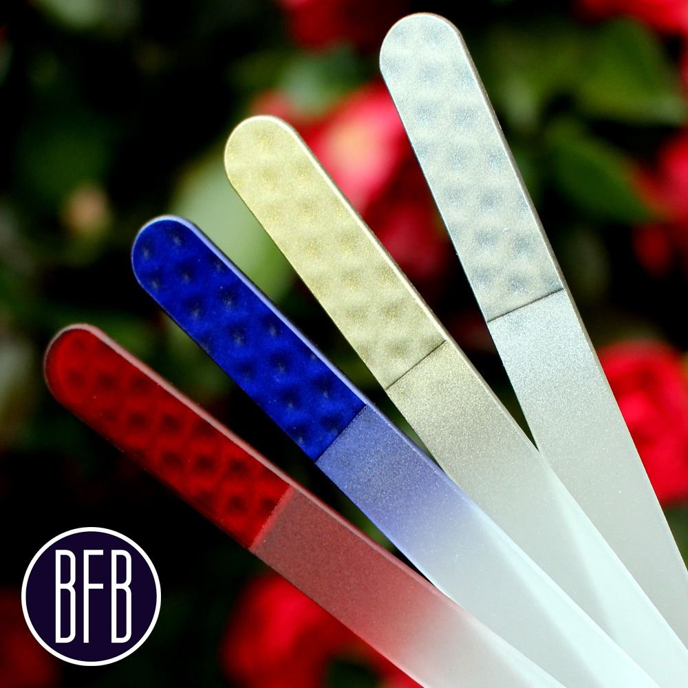 Beautiful 5 Piece Optical Effect Manicure Crystal Glass Nail Files ...