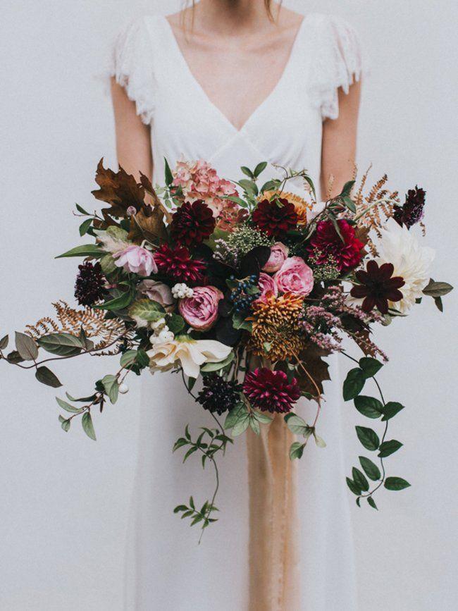 Christmas Wedding Bouquets Uk.Boeketrecept Herfstig Natuurlijk Bruidsboeket Wedding