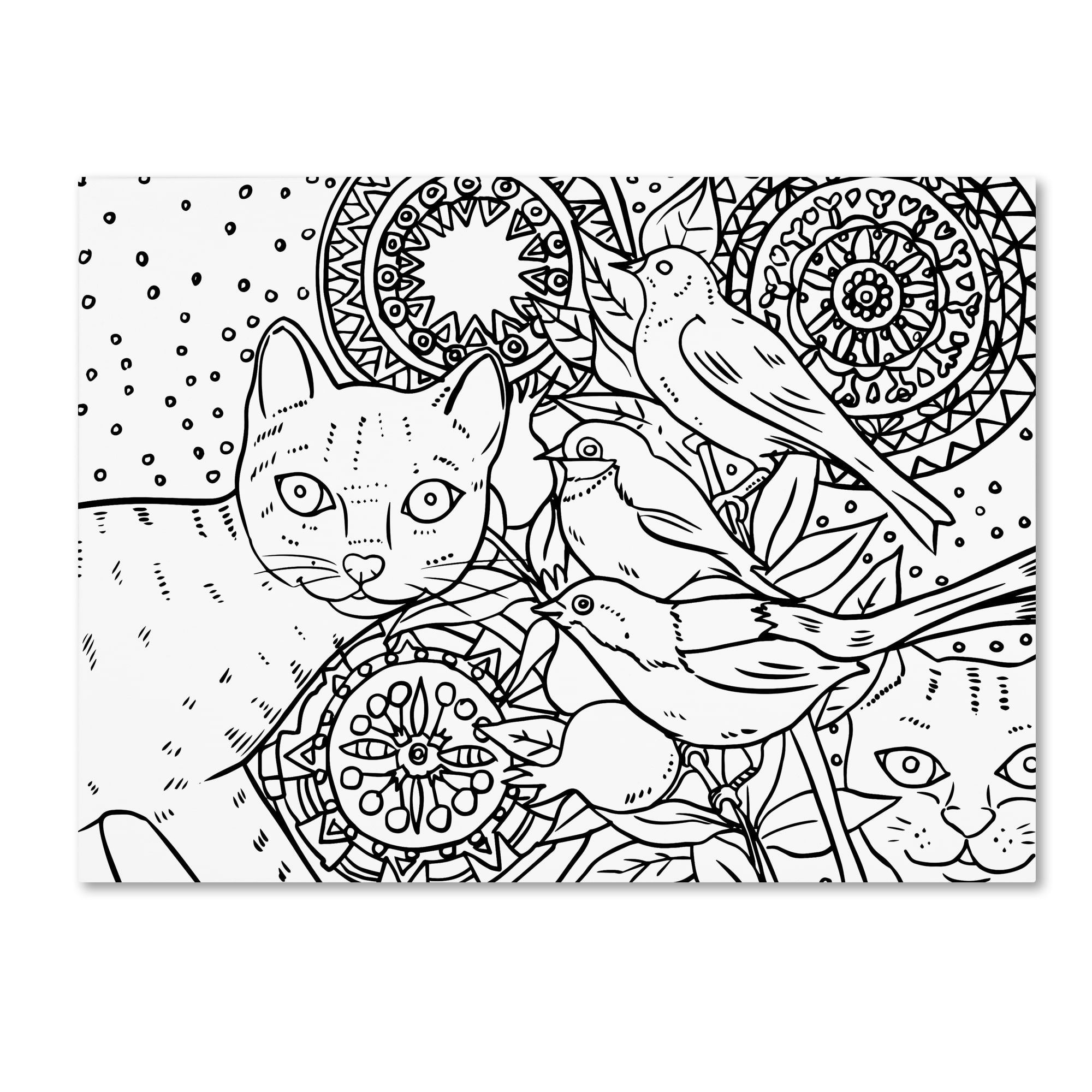Oxana ziaka umandala cats line artu canvas art products
