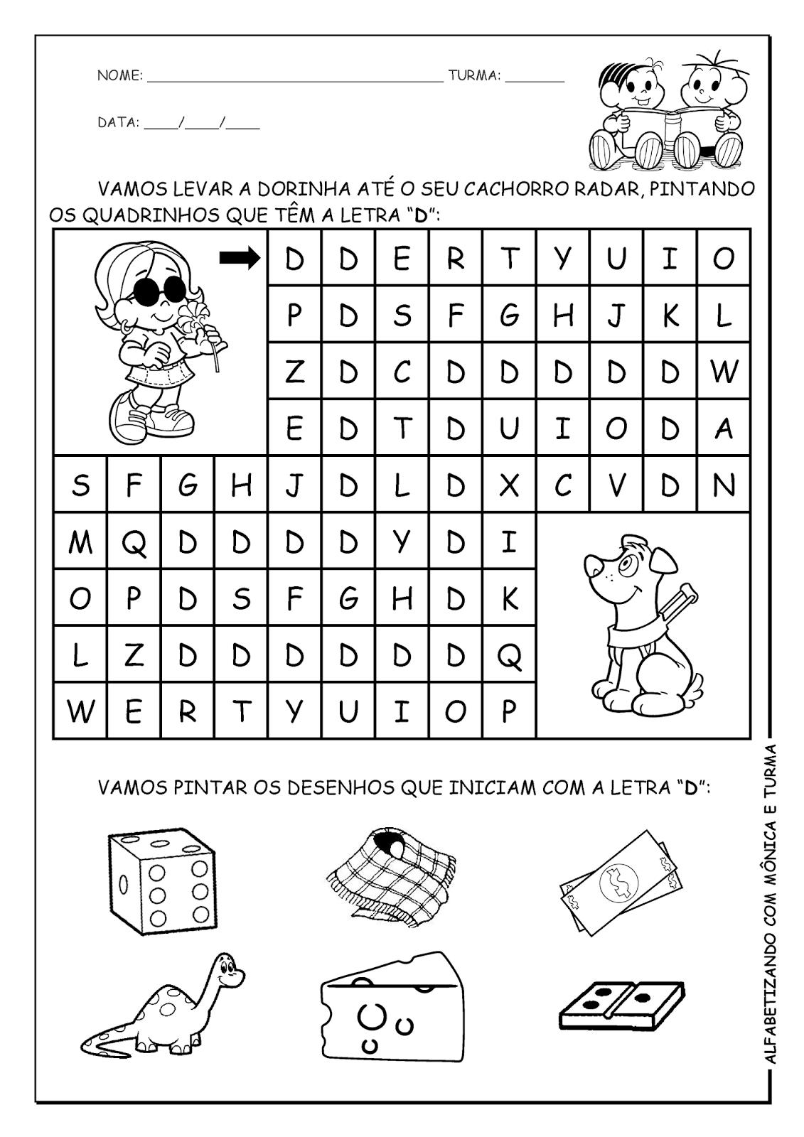 Alfabetizando com Mônica e Turma | alfabetizando | Pinterest