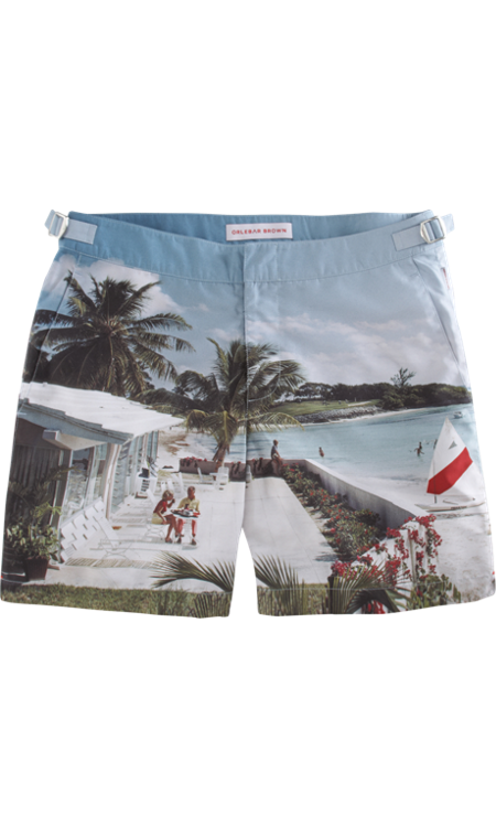 Orlebar Brown Jamaica Anniversary Print Bulldog Trunks