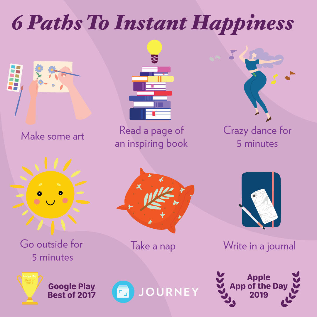 6 paths to instant happiness