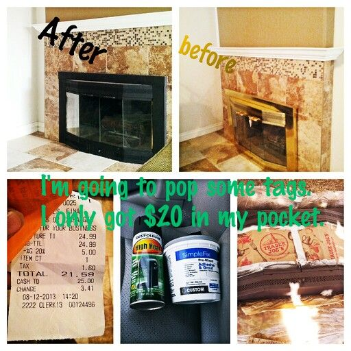 Diy Fireplace screen for $35