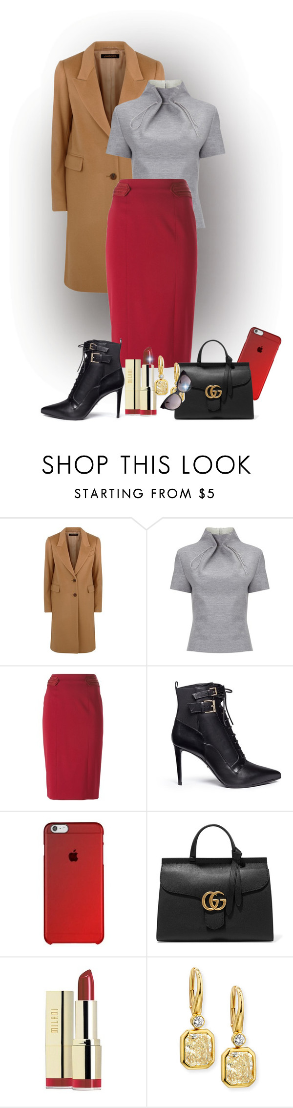 """""""Untitled #2105"""" by swc0509 ❤ liked on Polyvore featuring Jaeger, J. JS Lee, Emporio Armani, Sergio Rossi, Gucci, Milani, Rahaminov Diamonds and Emilio Pucci"""