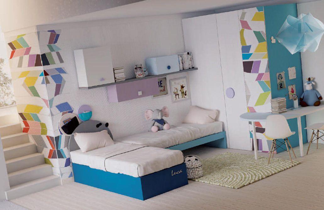 Comp 222 con questa cameretta comp 222 spagnol mobili, tra le soluzioni salvaspazio, potrai progettare stanze moderne per bambini. Camerette Doppie Per Ragazzi Camerette Cameretta Bambini Salvaspazio Stanza Di Bambino
