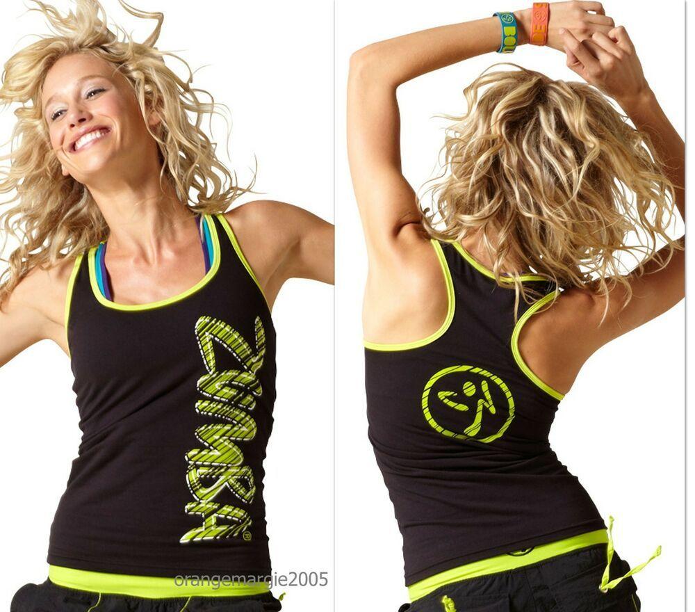 ZUMBA FITNESS DANCE Safari METALLICS RACERBACK TOP~RARE~Orlando Convention~S M L
