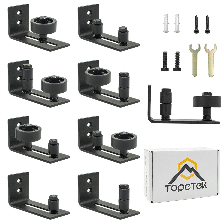 Barn Door Floor Guide Roller Wall Mount Adjustable Channel Stay