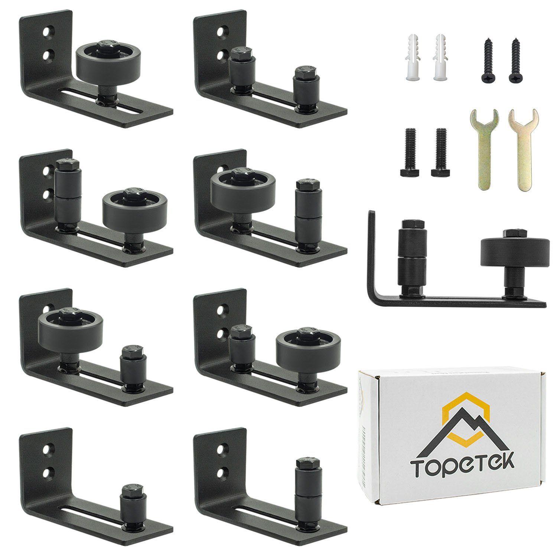 Adjustable Floor Guide Roller Wall Mount Bottom Stay Sliding Barn Door Hardware