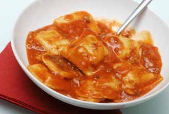 Cheese Ravioli with Marinara Sauce | PASTa | Lobster ravioli, Ravioli casserole, Ravioli
