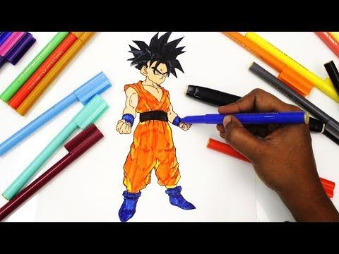 Coloring The Child Gohan From Dragon Ball Z Book Pages For Kids