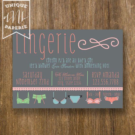 Lingerie Invitation Ideas 88