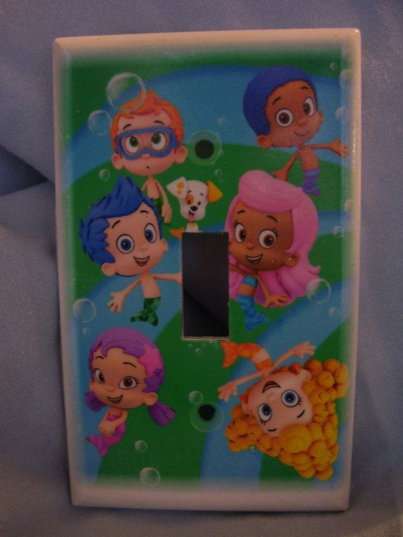 Bubble Guppies Light Switch Cover Plate for bedroom by thewagner8   4 00. Nickelodeon Bubble Guppies 3D Toddler Bed   Sophia Kathleen  3