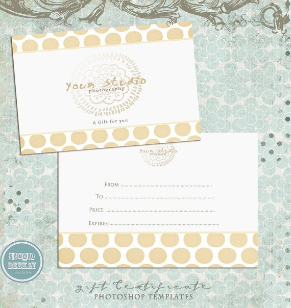 Gift certificate template instant download gift certificate gift certificate template instant download yadclub Images