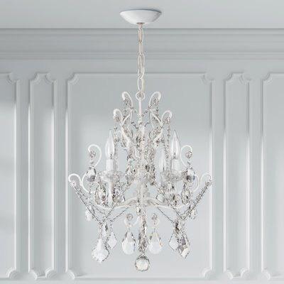 Three Posts Flemington 4 Light Candle Style Chandelier