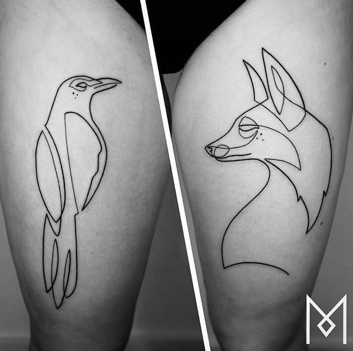 Mo Ganji Fox And Raven Tattoo Tatoeage Ideeën Tatoeage