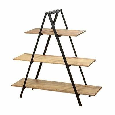 belle tag re design en bois de mangue et m tal noir. Black Bedroom Furniture Sets. Home Design Ideas