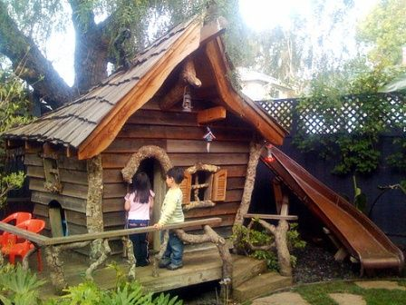 plan cabane en bois pour enfant CABANNE JARDIN Pinterest Tree - plan maisonnette en bois
