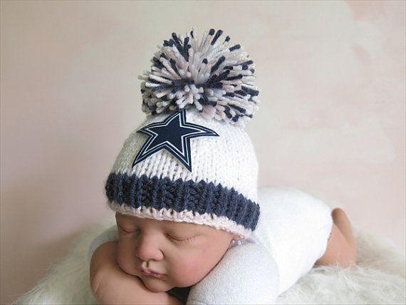 Dallas Cowboys Colors Beanie Hat in Stark White f55cc6acd