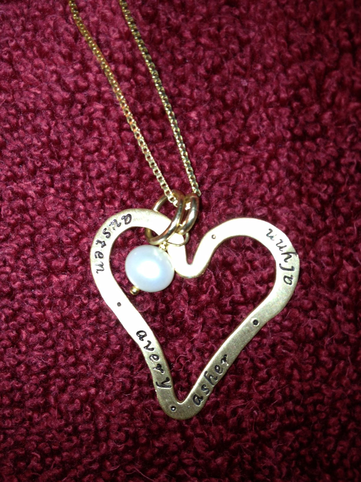Necklace with the names of my four precious children!
