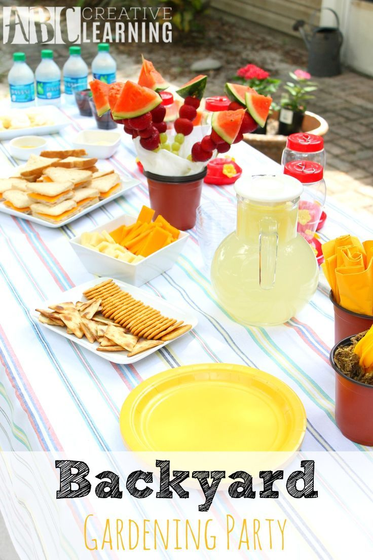 Backyard Gardening Party is the perfect way to spend a summer afternoon with friends! Plus, yummy food and some all® free clear liquid for when the kids come inside! - abccreativelearning.com #FreeToBe #ad