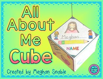 This All About Me Cube Poster Is Perfect For Back To School It Makes A Great First Day Of Or Week Activity Your Class