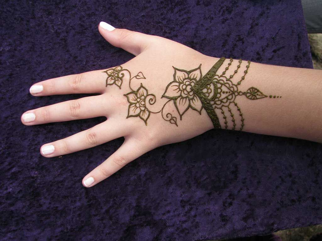 Simple Mehndi Tattoo Hands : Very simple henna designs for beginners easy mehndi design