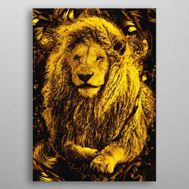 Lion King Gold metal print | Displate thumbnail