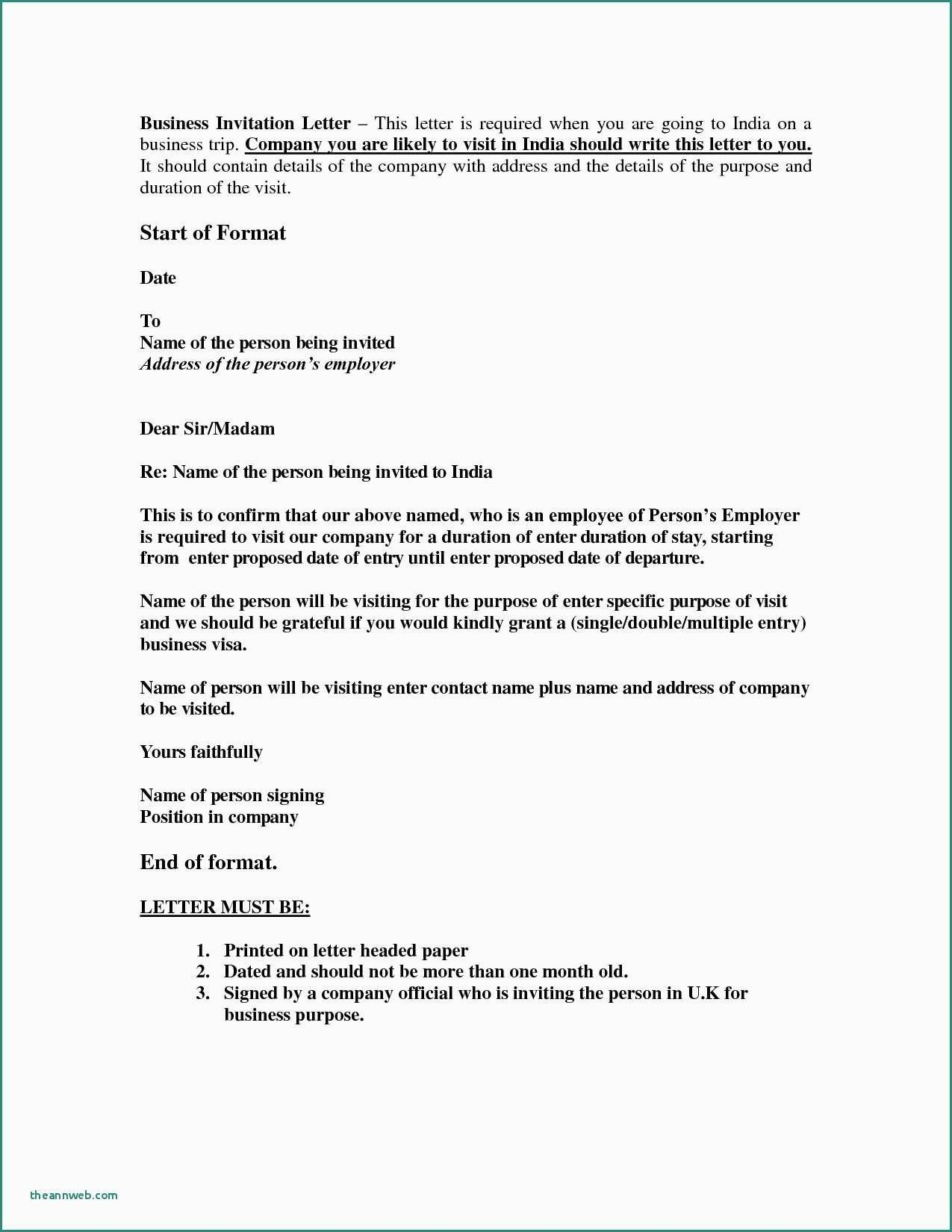 Best Refrence New Business Visa Application Letter format