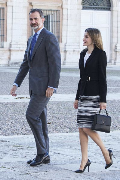 King Felipe and Queen Letizia Attend Opening Session Of 'International Symposium About Carlos III'