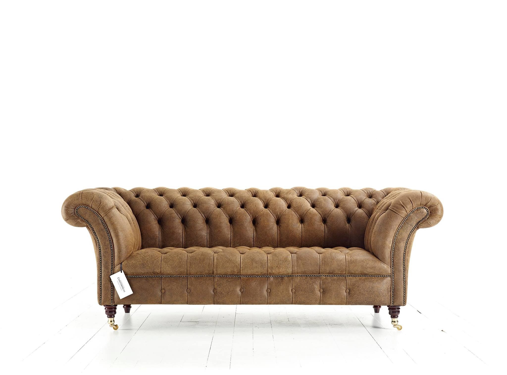 Flair Wide Arm Chesterfield Blenheim sofa with tufted button seat