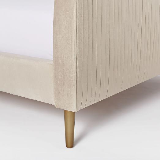 Roar Rabbit Pleated Bed Luster Velvet Furniture