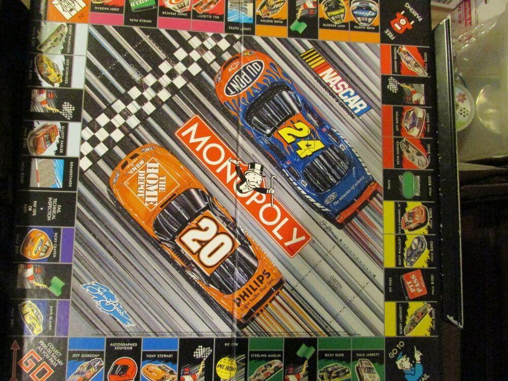 2002 Monopoly Nascar Collector S Edition Sam Bass Game Board
