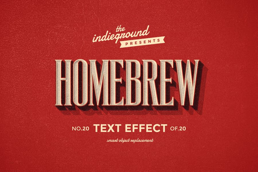 Retro Vintage Text Effect N 20 Indieground Design Retro Text Vintage Text Text Effects