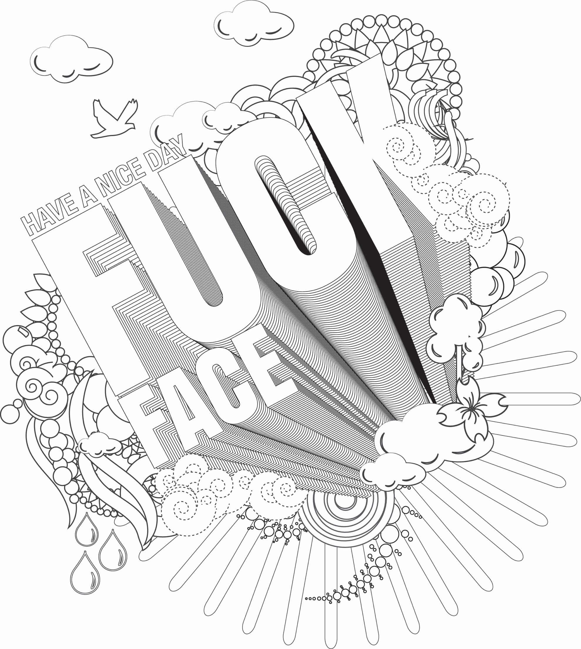 FREE Adult Language Coloring Sheet For Your Adult Coloring And