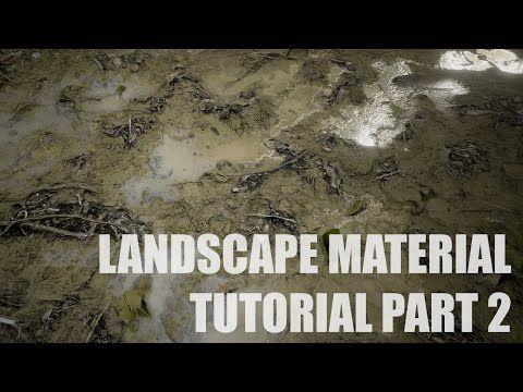 Landscape Material Tutorial Part 2 Procedural Puddles Unreal