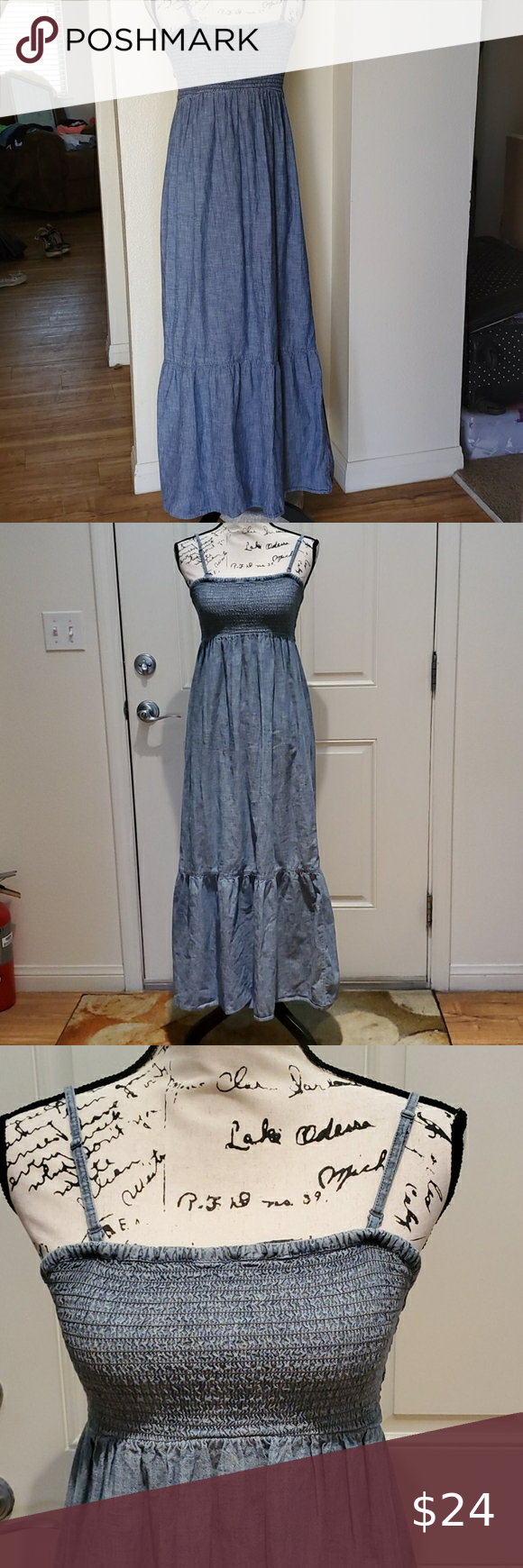 Gap Maxi Dress Brand Gap Style Ankle Length Jean Dress Detachable Straps Color Blue Jean Size S No Rips In 2020 Gap Maxi Dress Clothes Design Boho Maxi Dress [ 1740 x 580 Pixel ]