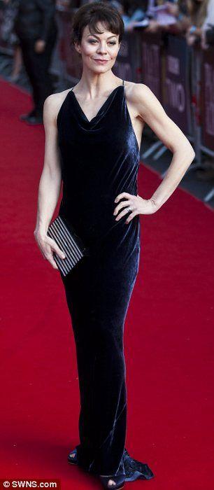Helen Mccrory 46 Dons Racy Backless Dress At Peaky Blinders Premiere Mccrory Female Inspiration Helen