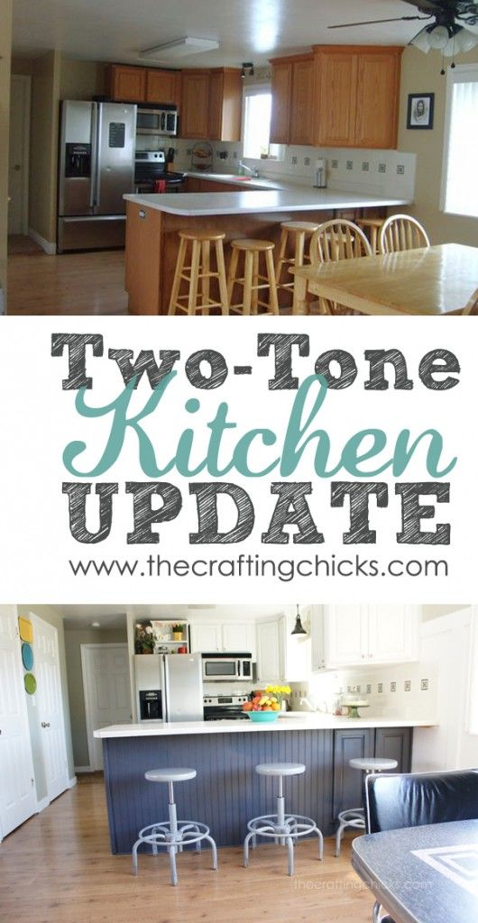 Two Tone Kitchen Reveal Two Tone Kitchen Home Home Remodeling