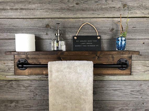 Small Bathroom Organization Over Toilet Floating Shelves