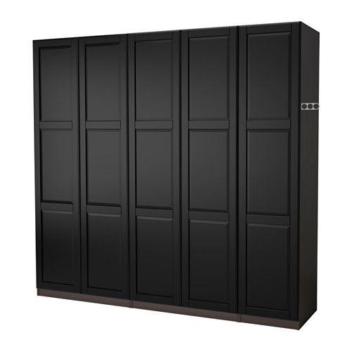 Pax Wardrobe Black Brown Undredal Black 98 3 8x23 5 8x93 1 8