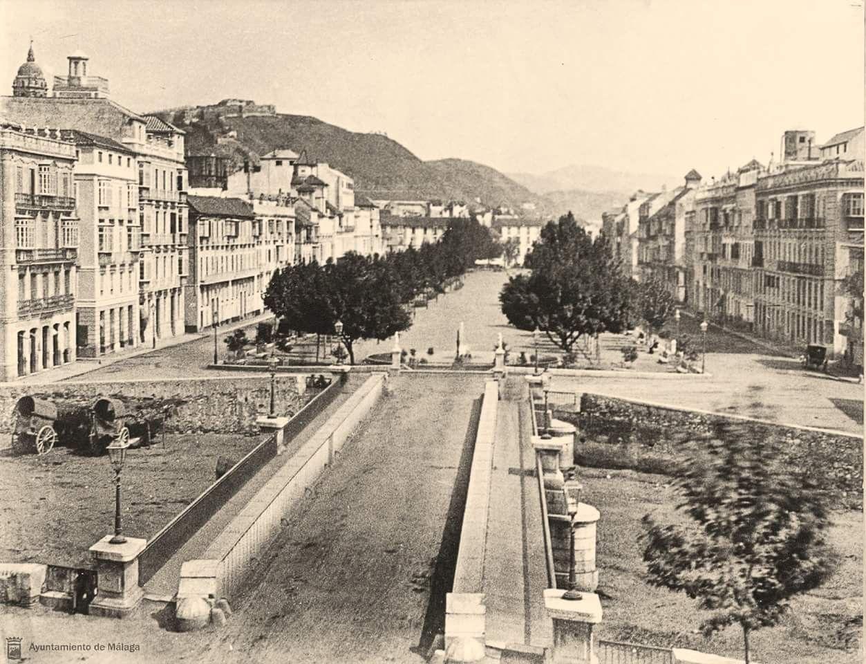 M laga puente de tetu n y alameda principal 1880 - Fotografia aerea malaga ...